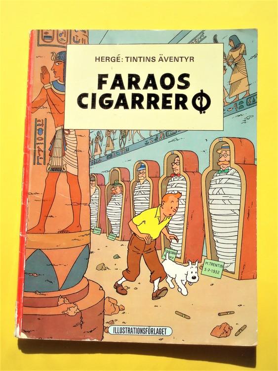 """Tintin""""Faraos Cigarrer""""1970 1:a upplagan,defekter finns,illustrationsförlaget"""