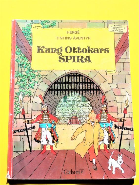 """Tintin""""Kung Ottokars Spira""""1:a upplagan 1972 Carlsen skador finns"""