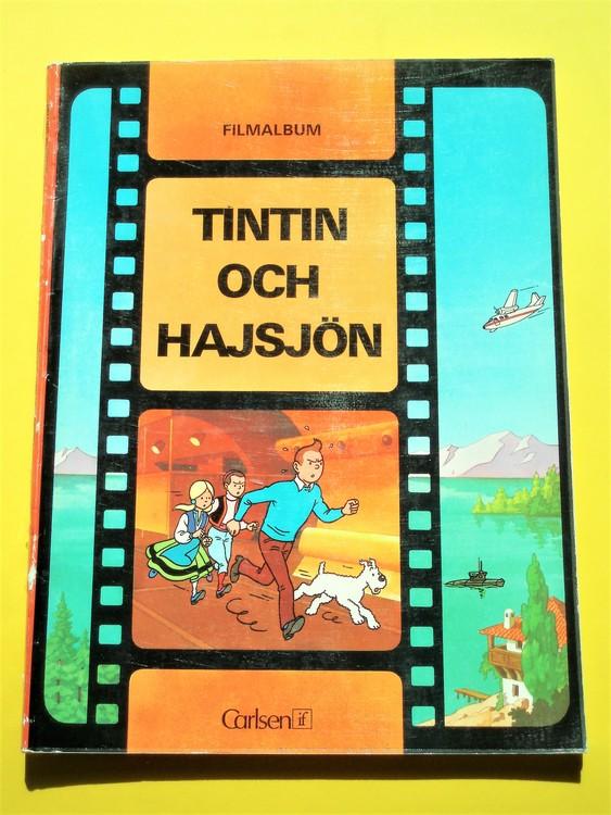 "Tintin""och Hajsjön"" 1:a upplagan 1973 bra exemplar.Carlsen filmalbum"