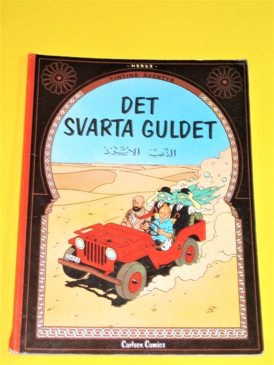 "Tintin ""Det svarta Guldet"" VG, normalskick, normalslitet carlsen comics"