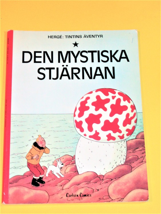 """Tintin""""Den mystiska stjärnan""""VG,normalskick,normal slitet,carlsen comics"""