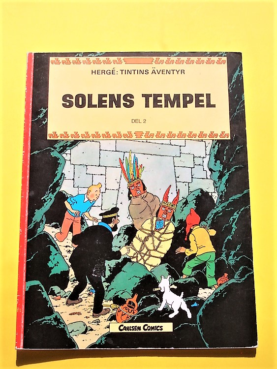 "Tintin ""SolensTempel"" del 2 ,normalskick,normalslitet, carlsen comics"