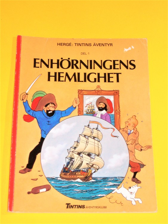 """Tintin """"Enhörningens Hemlighet del 1"""" VG, normalskick, normalslitet"""