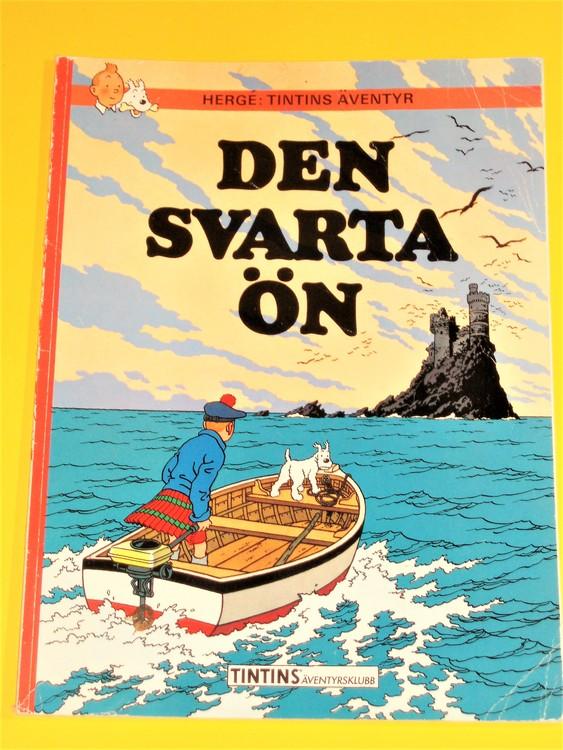 """Tintin """"Den Svarta Ön"""" normalskick, normalslitet, äventyrsklubb"""