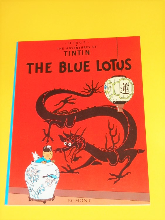 """Tintin """"The Blue Lotus"""" Engelsk version, NM, nyskick, inga direkta defekter"""