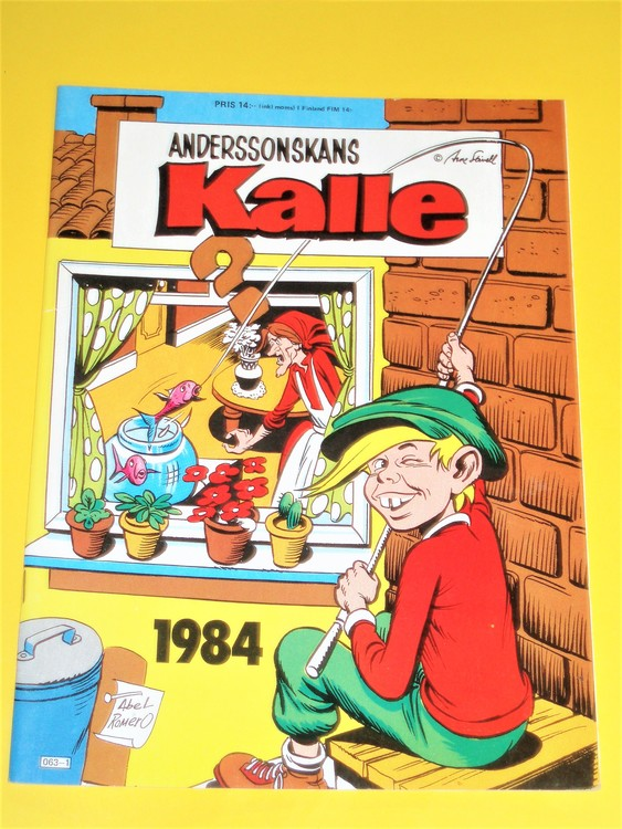 Anderssonskans Kalle 1984 VG,normalskick,normalslitet, inga direkta defekter.