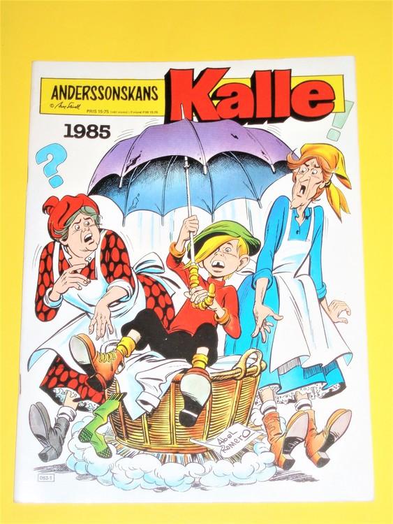Anderssonskans Kalle 1985 VG,normalskick,normalslitet, inga direkta defekter.