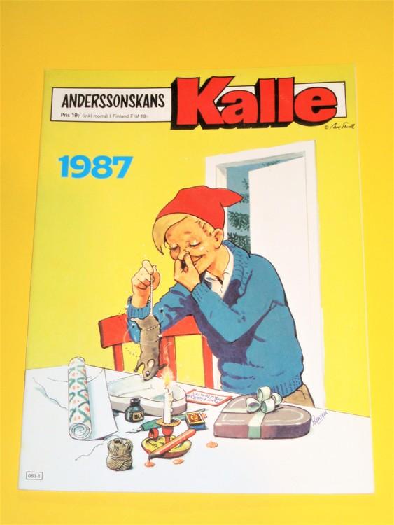 Anderssonskans Kalle 1987 VG,normalskick,normalslitet, inga direkta defekter.