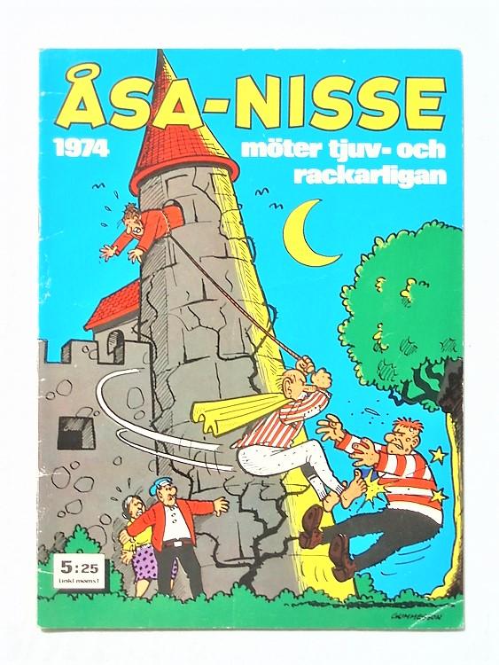 Åsa-Nisse årsalbum 1974,lite vikt hörn första sida,mycket bra skick