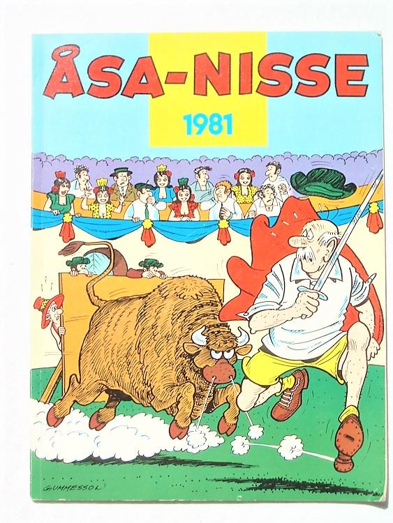 Åsa-Nisse årsalbum 1981,lite vikta hörn första sida,mycket bra skick