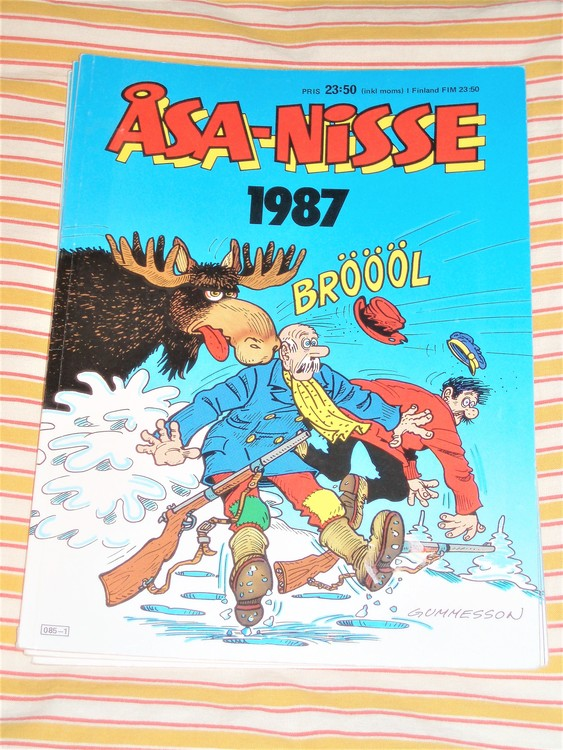 Åsa-Nisse årsalbum 1987 grundskick VF