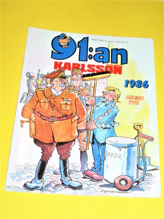91: an Karlsson 1986 VF, häftad, färg, mycket bra skick, Egerbrant, semic press