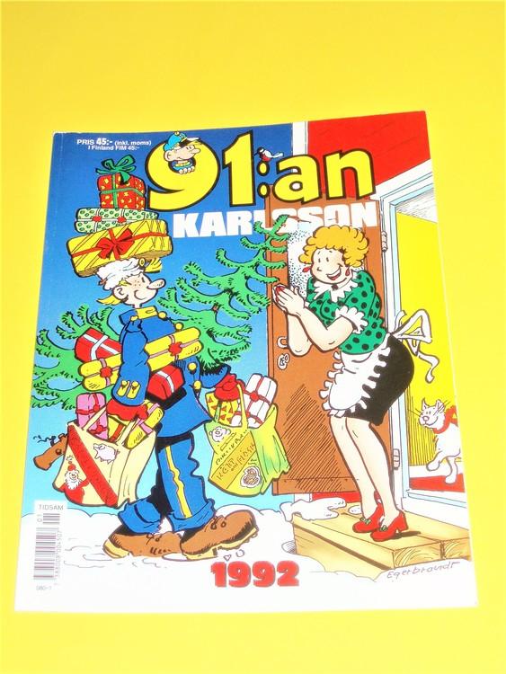 91: an Karlsson 1992 VF, färg, mycket bra skick, Egerbrant