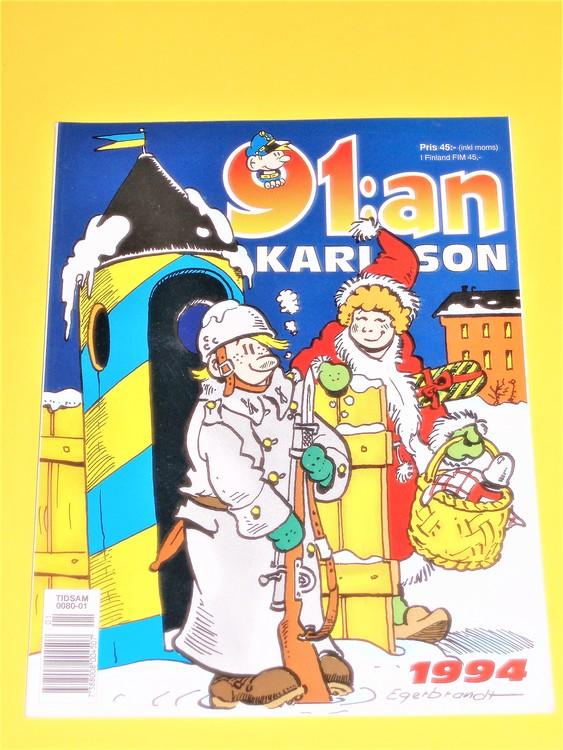 91:an Karlsson1994 VF,färg,mycket bra skick,Egerbrant,semic press