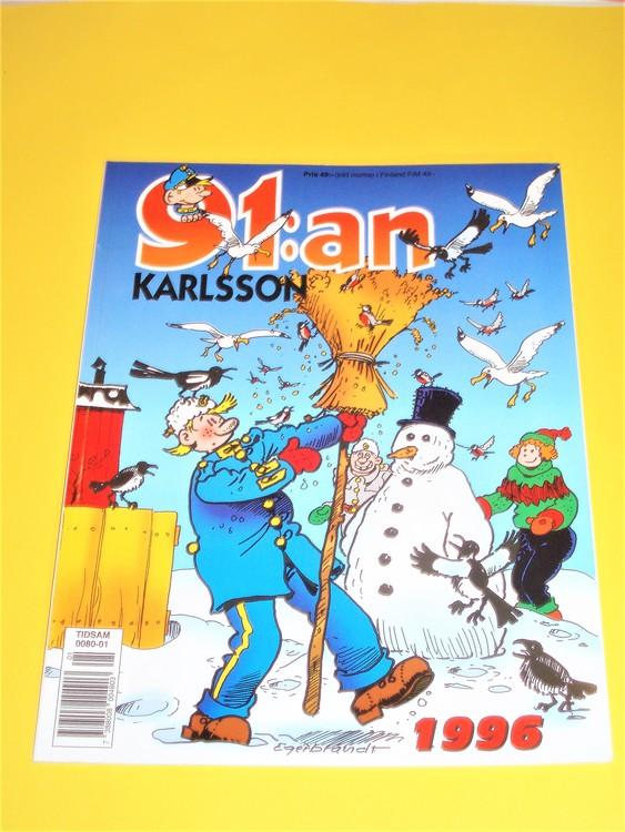 91: an Karlsson 1996 VF, häftad, färg, mycket bra skick, Egerbrant