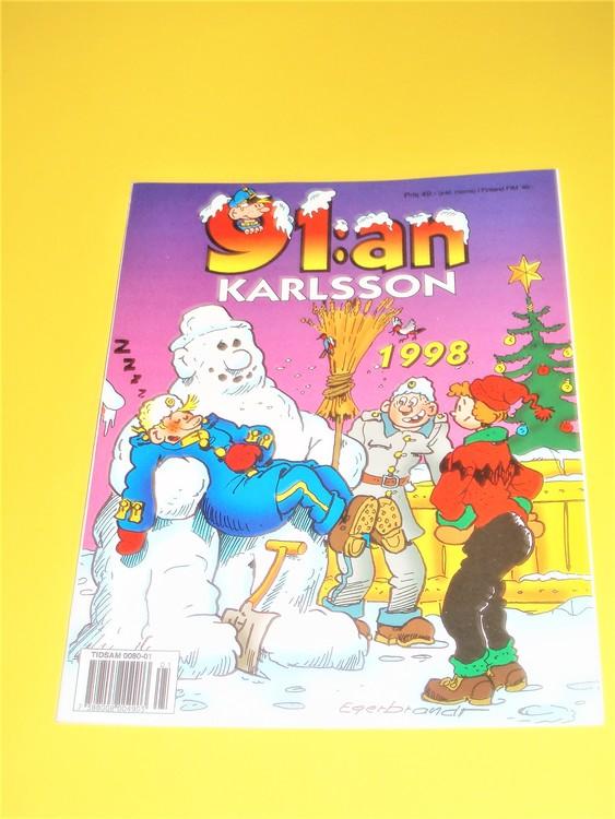91: an Karlsson 1998 VF, häftad, färg, mycket bra skick, Egerbrant