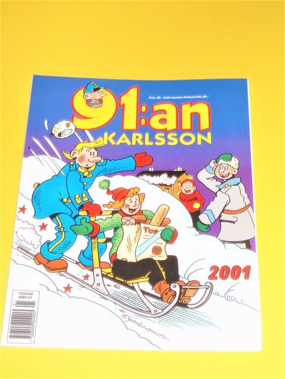 91: an Karlsson 2001 VF, häftad, färg, mycket bra skick, Egerbrant