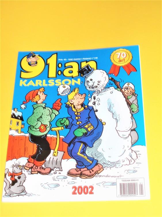 91:an Karlsson 2002 VF, häftad, färg, mycket bra skick, Egerbrant