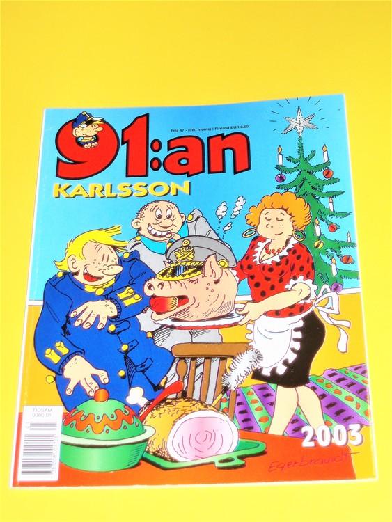 91:an Karlsson 2003 VF, häftad, färg, mycket bra skick, Egerbrant