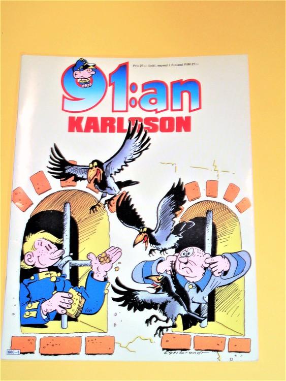 91:an Karlsson  VF  färg häftad mycket bra skick  Egerbrant