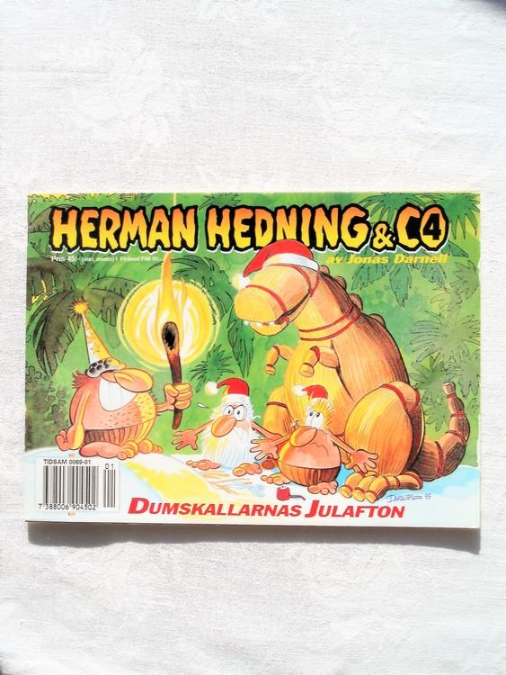 """Herman Hedning nr4 """"Dumskallarnas Julafton""""mycket bra skick"""