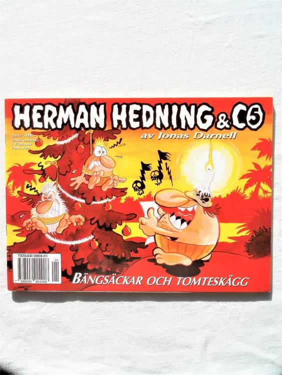 """Herman Hedning nr5 """"Bängsäckar och tomteskägg""""mycket bra skick"""