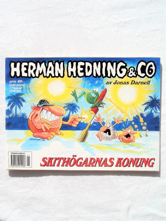 """Herman Hedning nr6 """"Skithögarnas Konung""""mycket bra skick"""