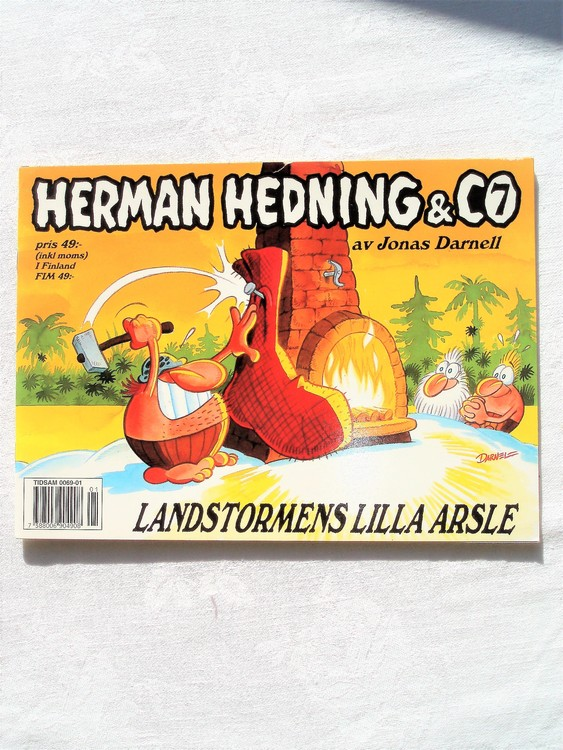 """Herman Hedning nr7 """"Landstormens Lilla Arsle""""mycket bra skick"""