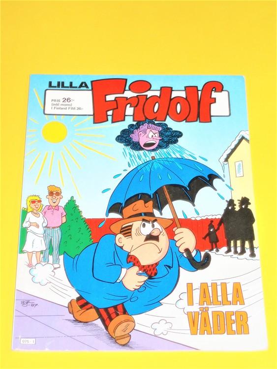 """Lilla Fridolf """"I alla väder""""1987, normalskick, normalslitet, semic"""