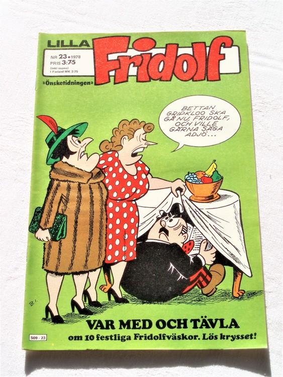 Lilla Fridolf nr 23 1978 mycket bra skick.Ny oläst