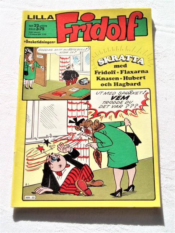 Lilla Fridolf nr 22 1978 mycket bra skick.Ny oläst