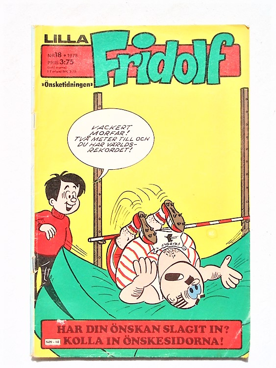 Lilla Fridolf nr 18 1978 normalslitet, normalskick