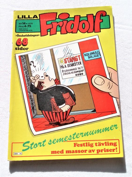 Lilla Fridolf nr 14 1978 mycket bra skick.Ny oläst