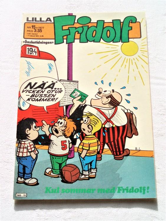 Lilla Fridolf nr 15 1977 mycket bra skick.Ny oläst .