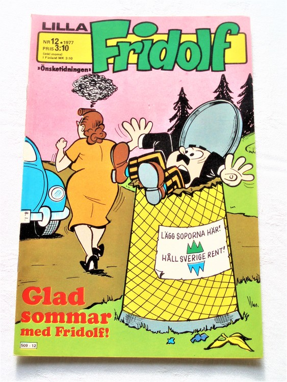 Lilla Fridolf nr 12 1977 mycket bra skick.Ny oläst