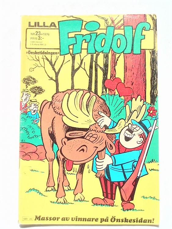 Lilla Fridolf nr 23 1976 korsord lite ifyllt,mycket bra skick