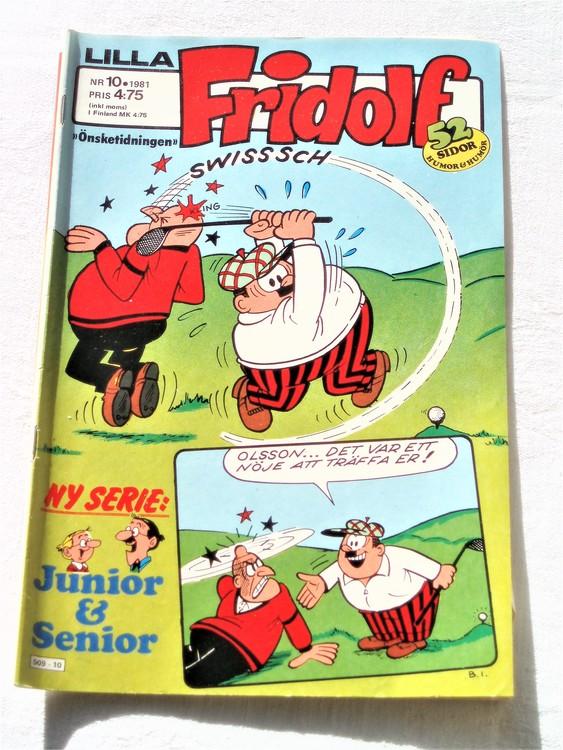 Lilla Fridolf nr 10 1981 normalslitet, normalskick