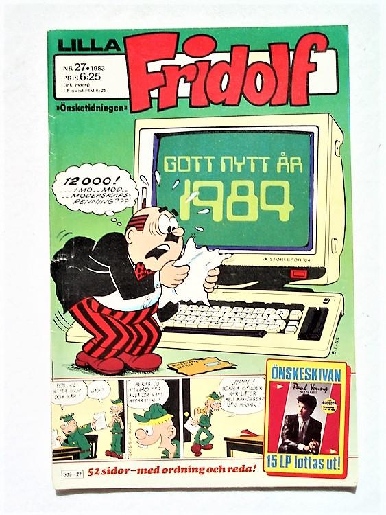Lilla Fridolf nr 27 1983 normalslitet, normalskick