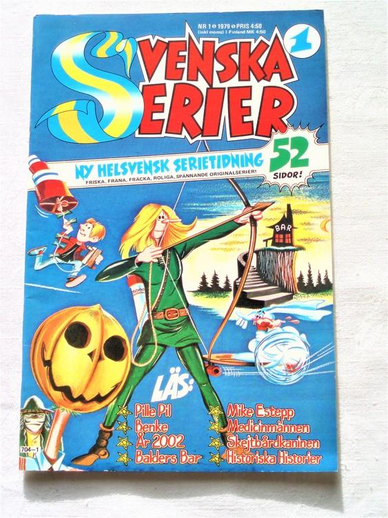 Svenska Serier nr 1 1979 mycket bra skick ny oläst