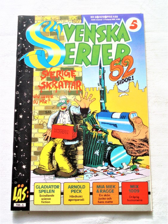 Svenska Serier nr 5 1979 mycket bra skick ny oläst