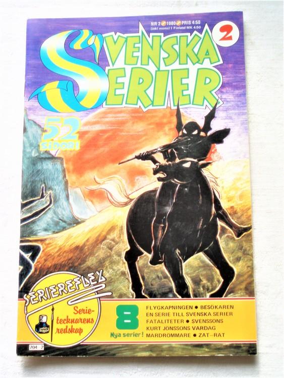 Svenska Serier nr 2 1980 mycket bra skick ny oläst
