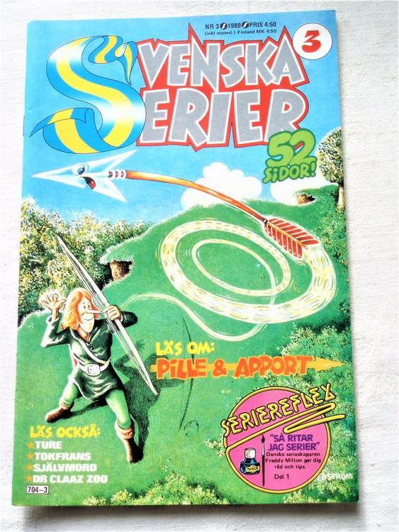 Svenska Serier nr 3 1980 mycket bra skick ny oläst