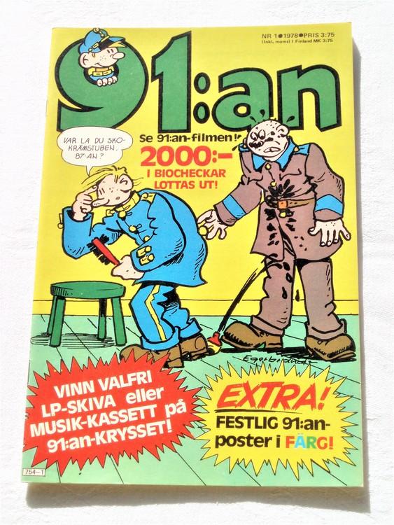 91:an nr 1 1978 mycket bra skick ny oläst