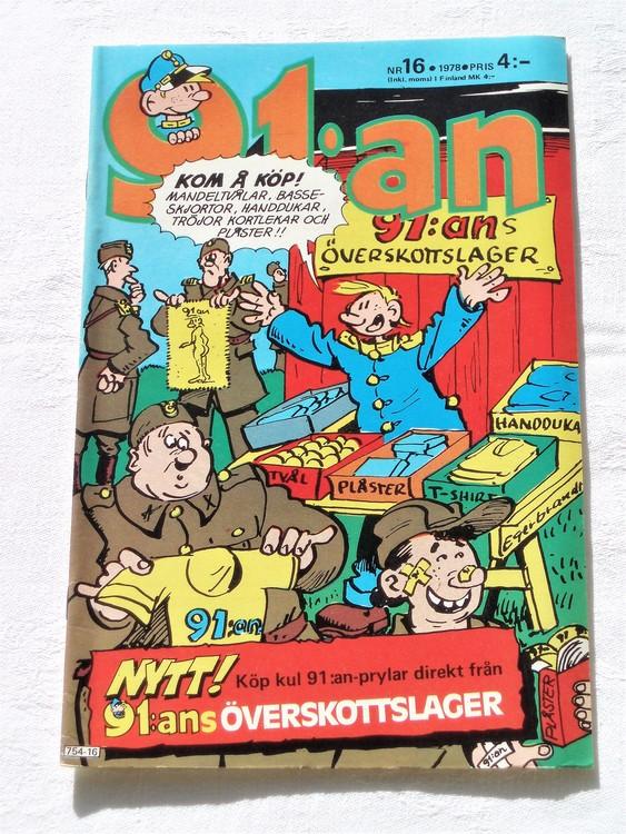 91:an nr 16 1978 mycket bra skick ny oläst