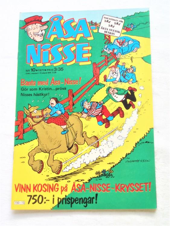 Åsa-Nisse nr 10 1977 mycket bra skick