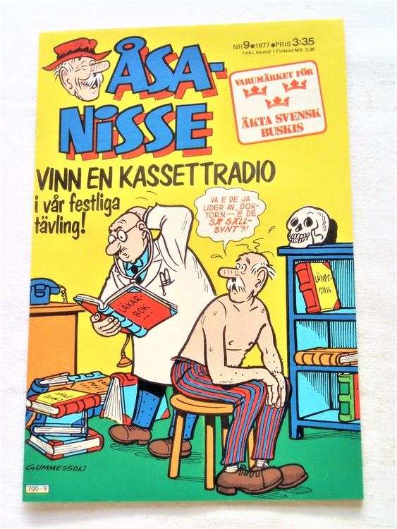 Åsa-Nisse nr 9 1977 mycket bra skick