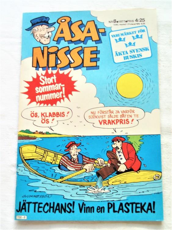 Åsa-Nisse nr 8 1977 mycket bra skick