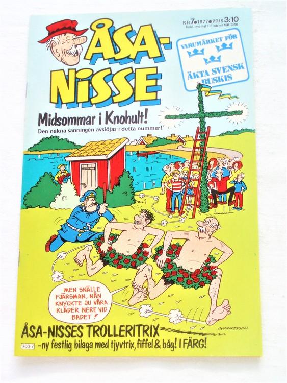 Åsa-Nisse nr 7 1977 mycket bra skick