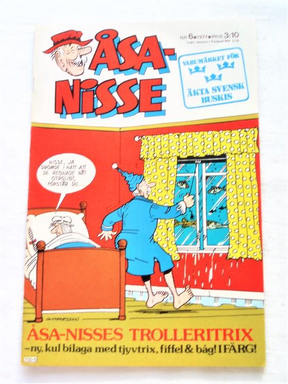 Åsa-Nisse nr 6 1977 mycket bra skick