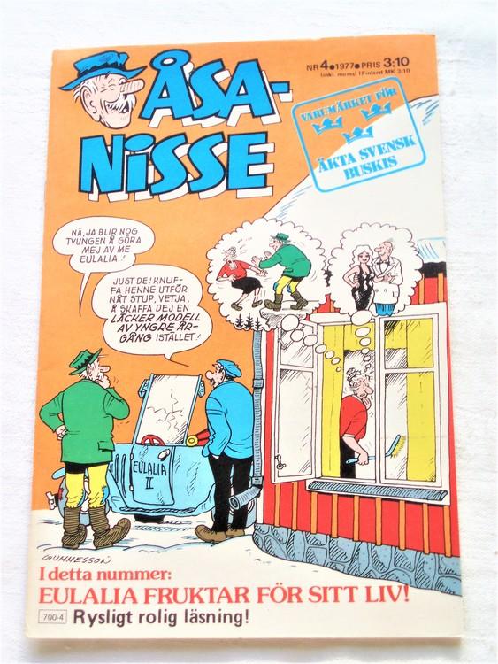 Åsa-Nisse nr 4 1977 mycket bra skick